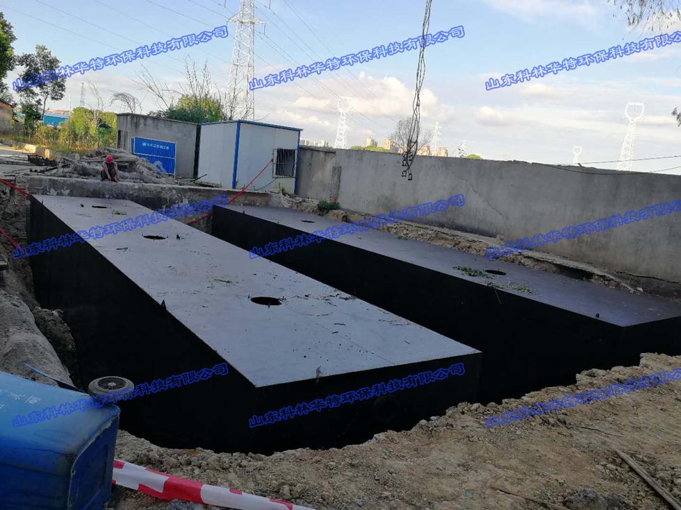 湖北武汉学校生活污水处理设备安装现场